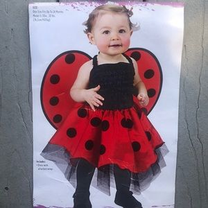 Baby Ladybug Costume with Wings - Up to 24 Months